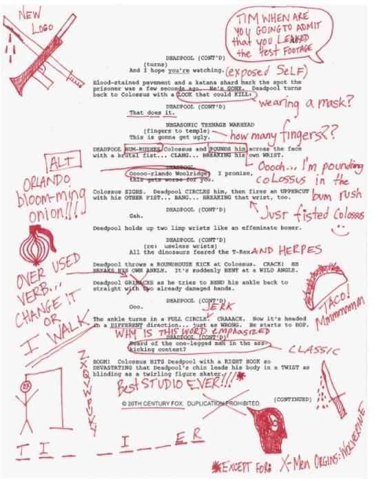 5 deadpool script