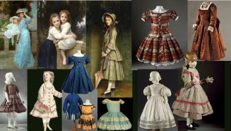 2 victorian children clotheing