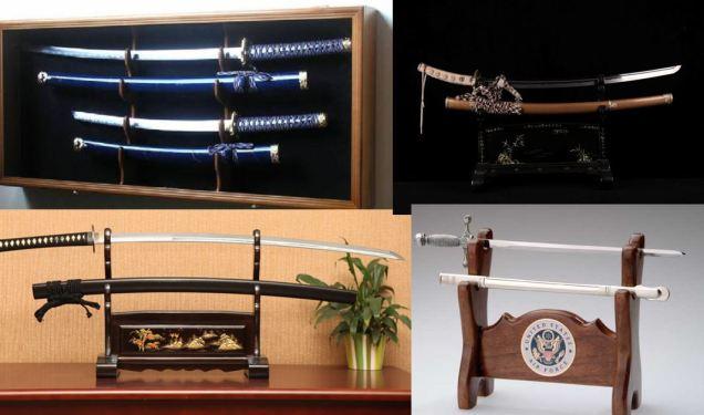 2 sword stands