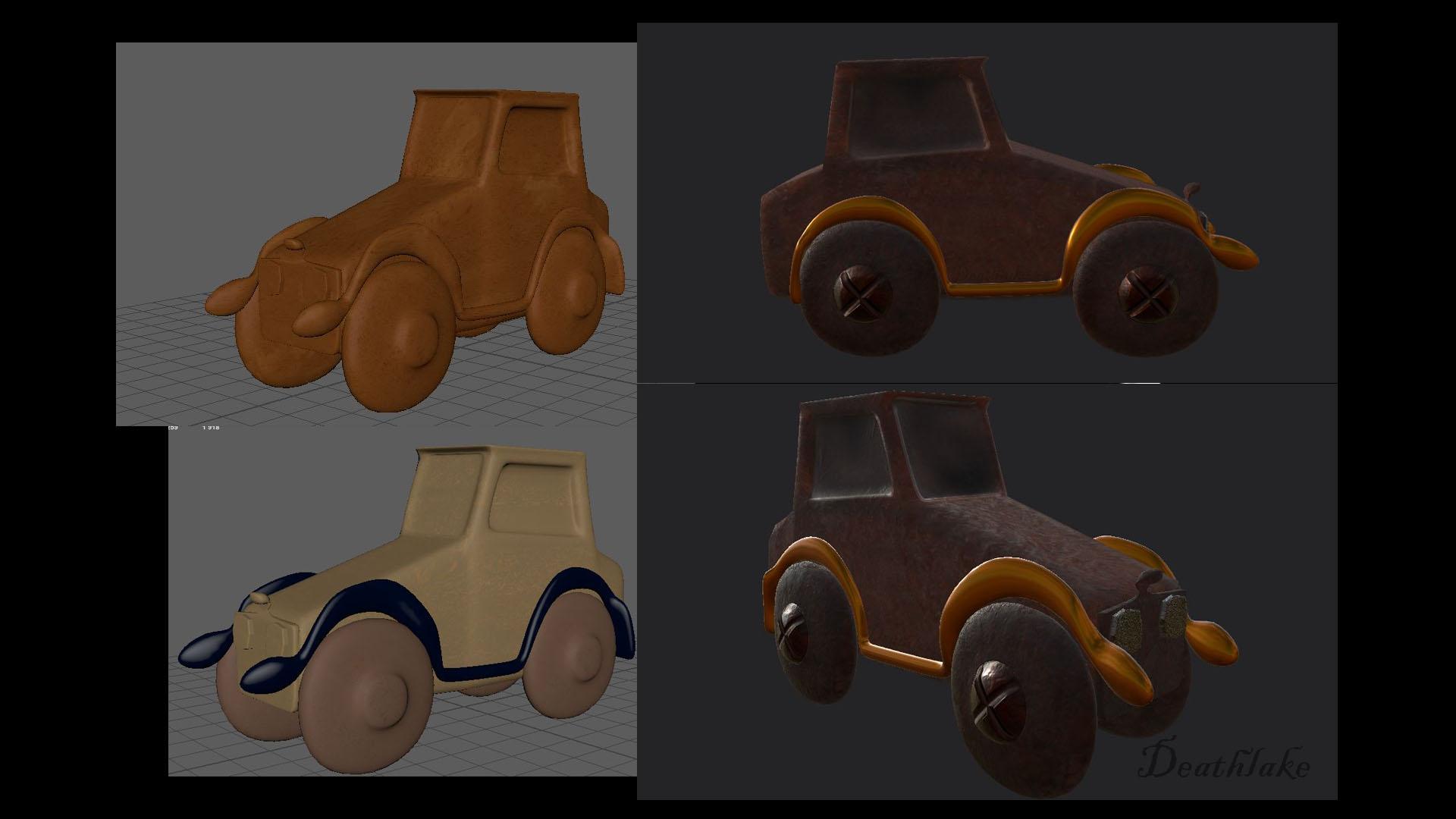 Painting Car In Mudbox