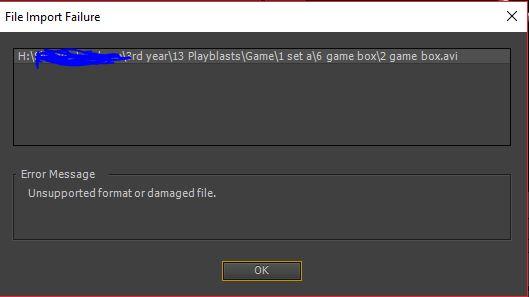 3 issue import playblast
